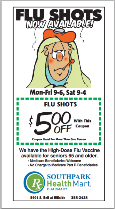 SouthPark Pharmacy Flu Shots