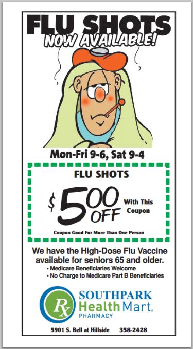 SouthPark Pharmacy Flu Shots