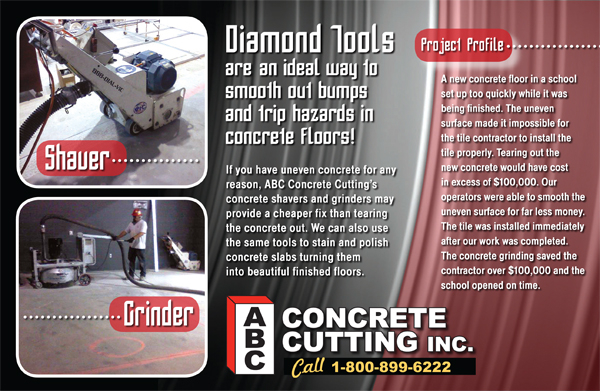 Concrete Floor Grinding  - ABC Concrete Cutting Company