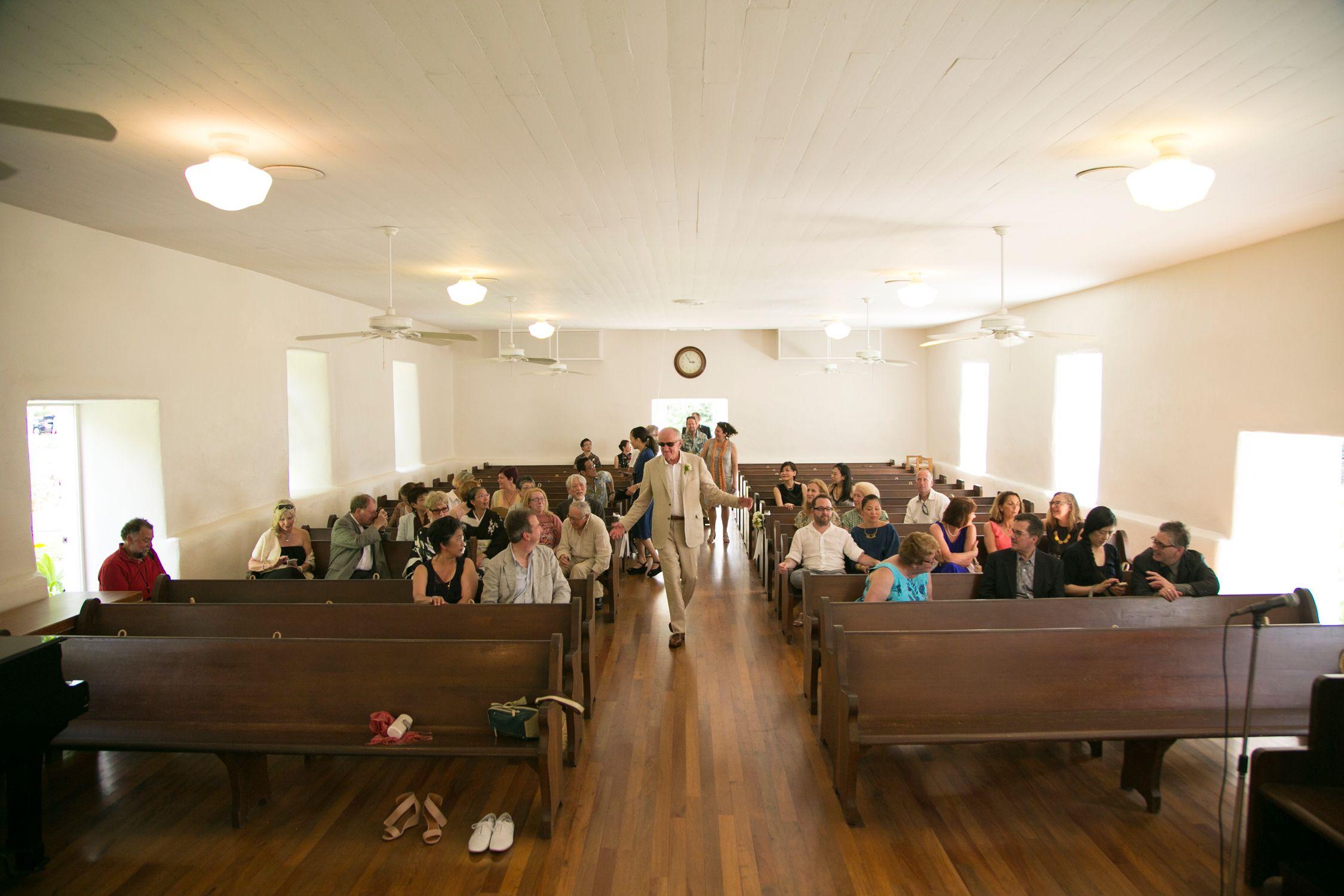 Maui church wedding photography