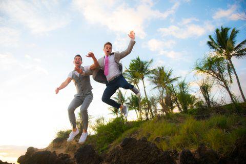 Maui gay wedding photography
