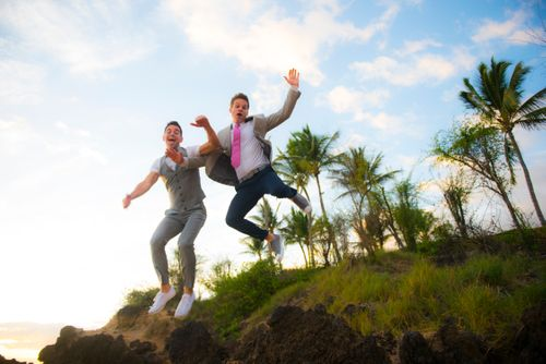 Maui gay wedding photography