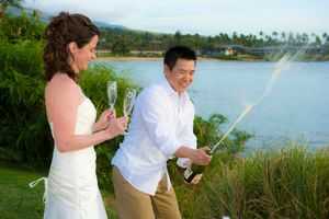 Champaign Toast at Kapalua Bay wedding