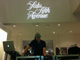 DJ at Saks Fifth Avenue