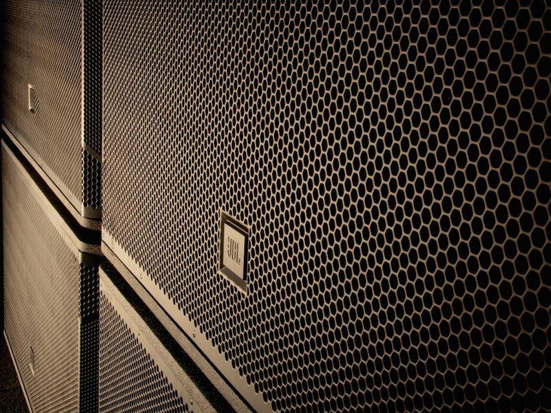 Close up of JBL speaker