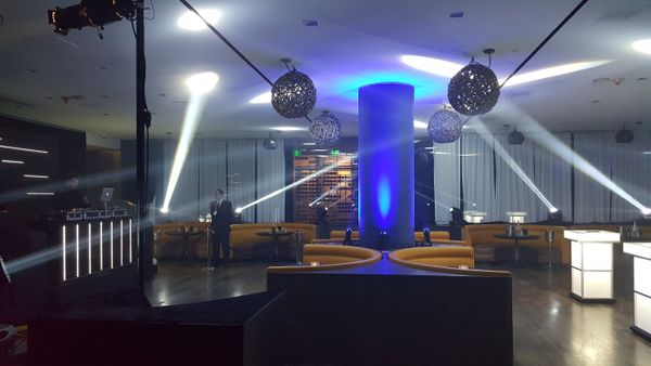 Spotlighting in Sofitel Hotel lounge area