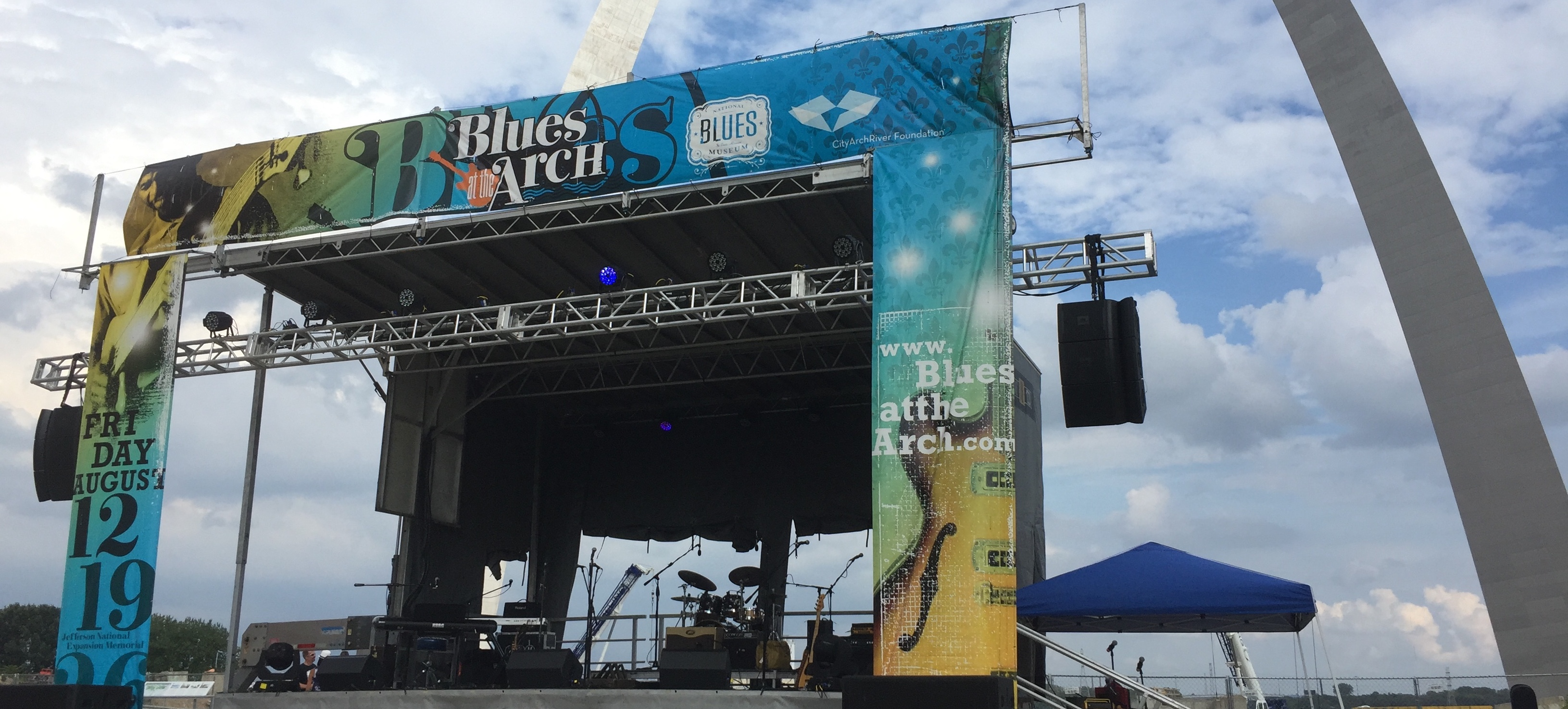 Blues at the Arch concert production