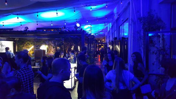 Blue lighting in Sofitel Hotel