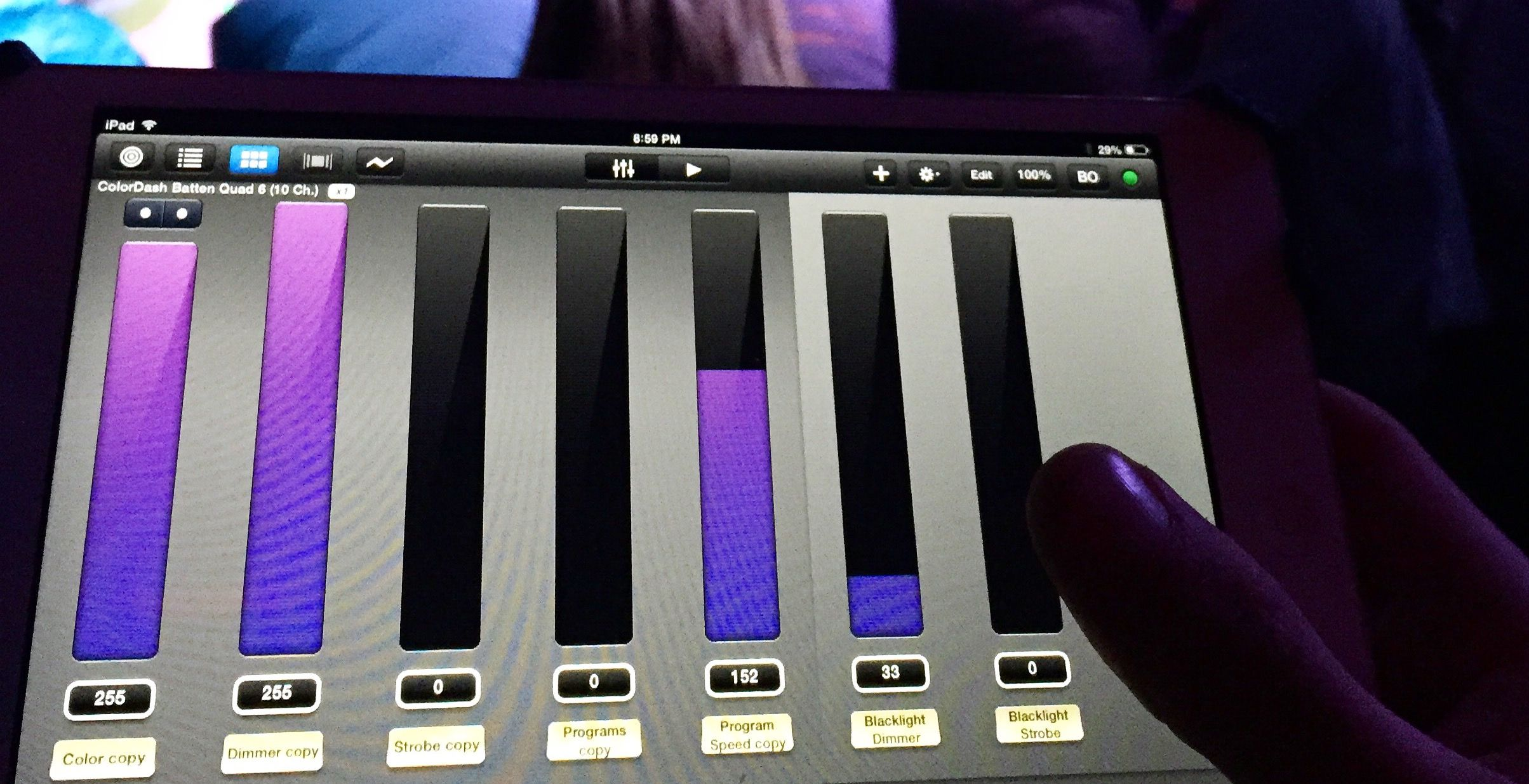 iPad lighting control