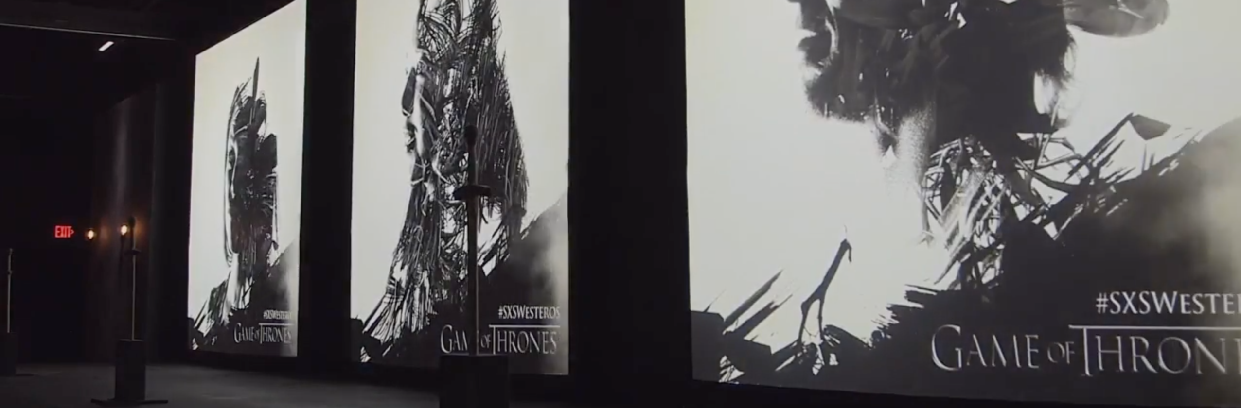 Three-Screen Projection Display for Game of Thrones Event