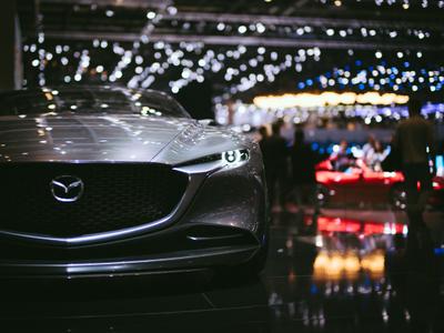 auto trade show floor