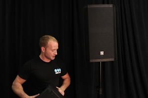 stagehands for hire with Powered Speakers