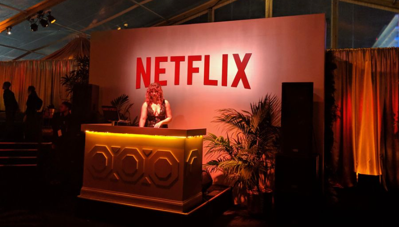 exclusive Netflix golden globe party