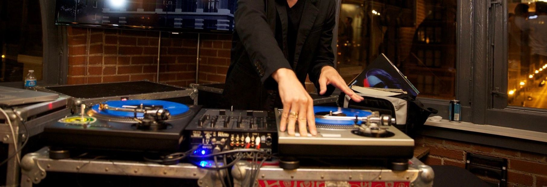 DJ Spinning at a party