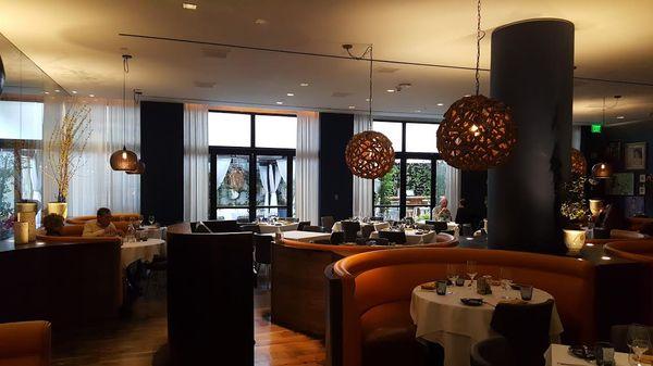 Lounge area in LA Hotel