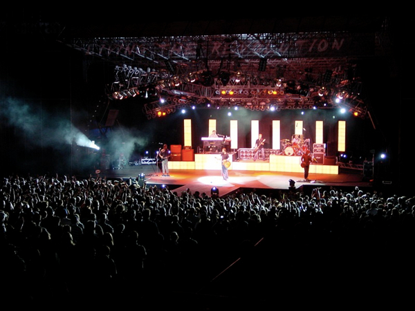 audio, video, and lighting equipment for concerts