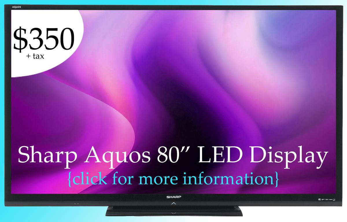 80 inch flat screen TV rental