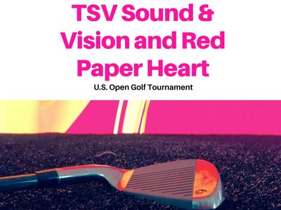 red paper heart u.s. open
