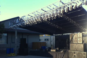Outdoor Stage with Roof
