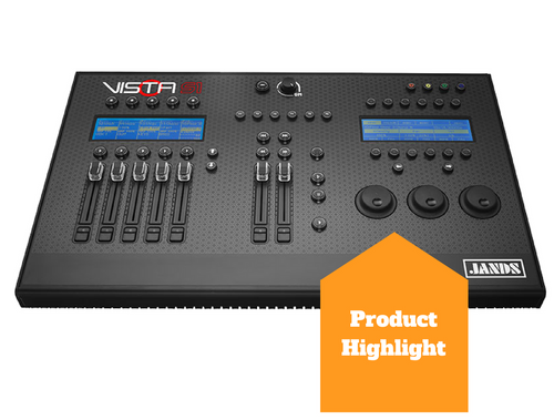 Picture of a product highlight of a  lighting mixer called the Jands Vista S1