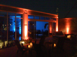 LED uplighting at a party