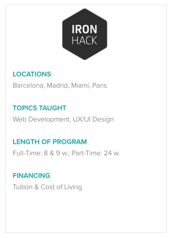 IronHack Program Details