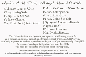 Alkalized cocktail for thyroid packet
