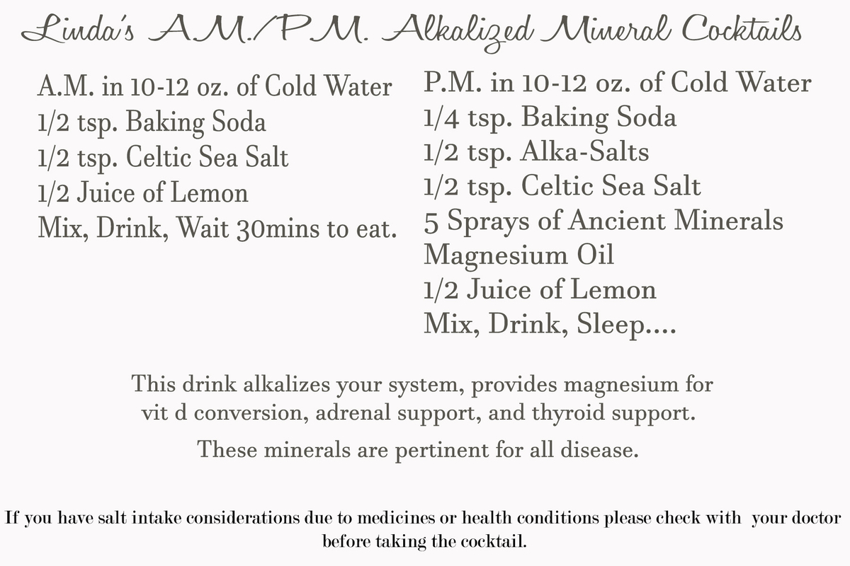 Linda's alkalized cocktail for thyroid packet