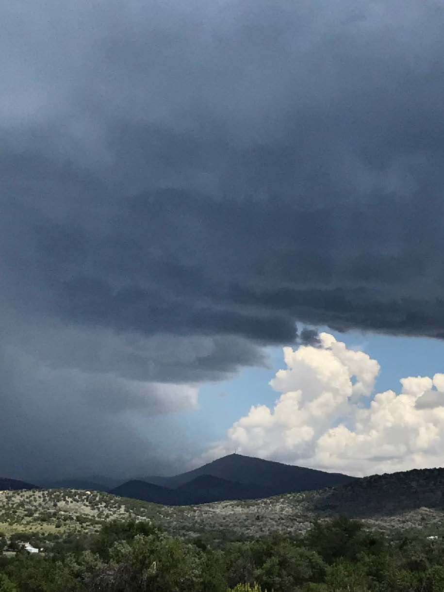 Storm clouds over Mt. Ord, south of Alpine