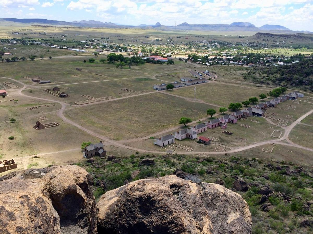 View from trail above Fort Davis National Historic Site