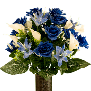 Medium Bouquet MD2072-Blue-Rose-with-Blue-Tiger-Lilly.png