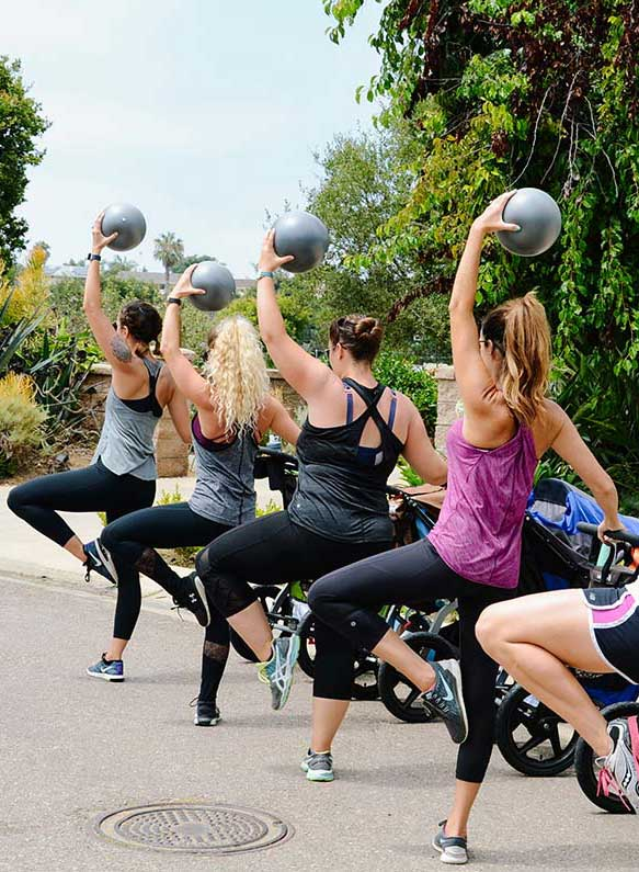 Stroller Barre ball reach