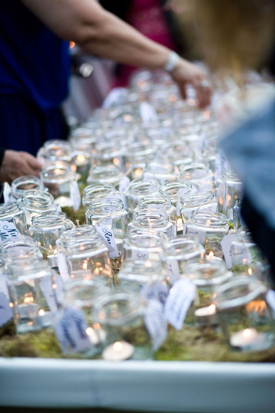 event decor small mason jars