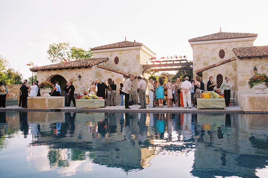 poolside corporate party