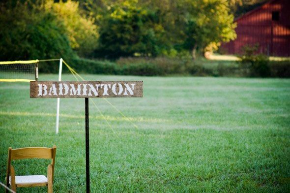 badminton for outdoor event planning