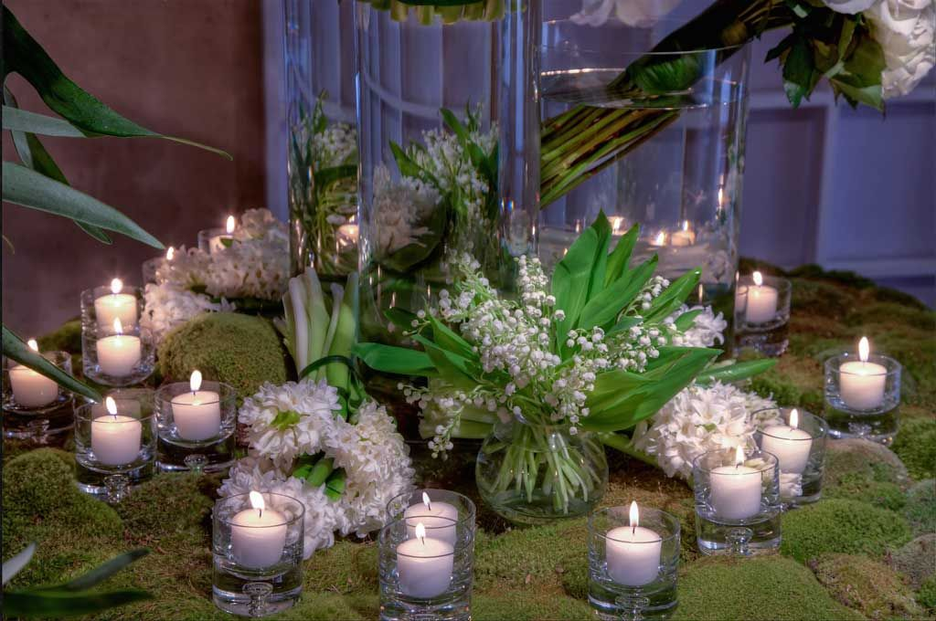 candles for zen wedding