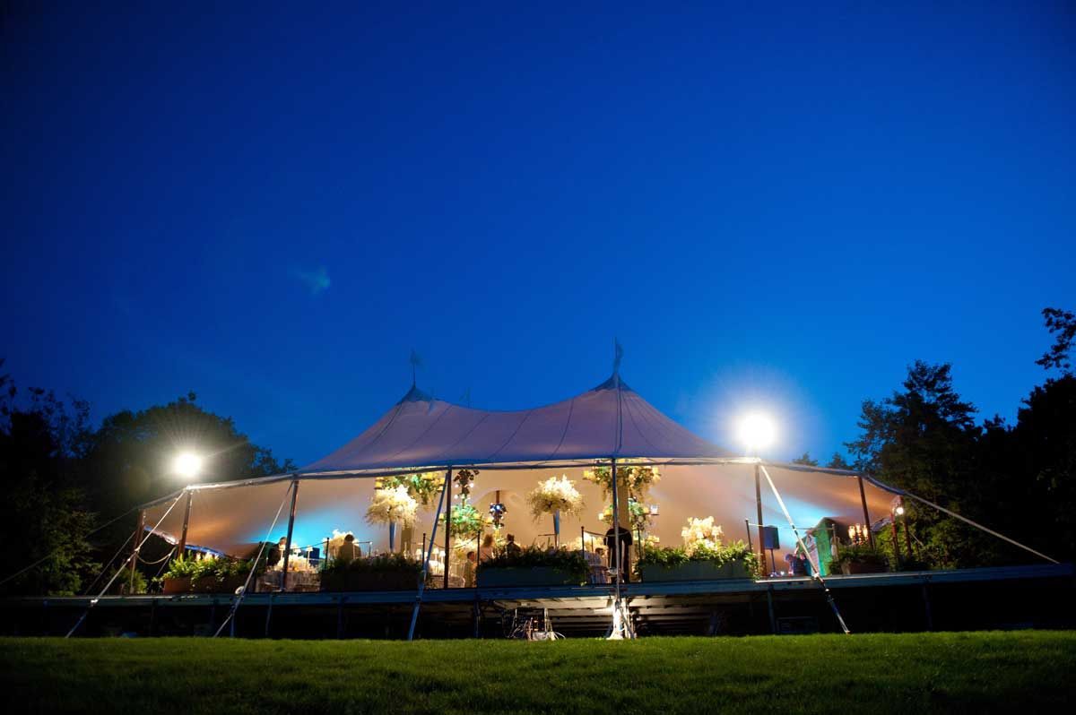 destination wedding under tent