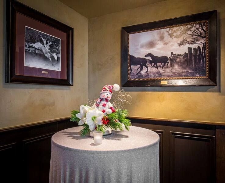 holiday party floral arrangements