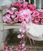 wedding planners pink roses