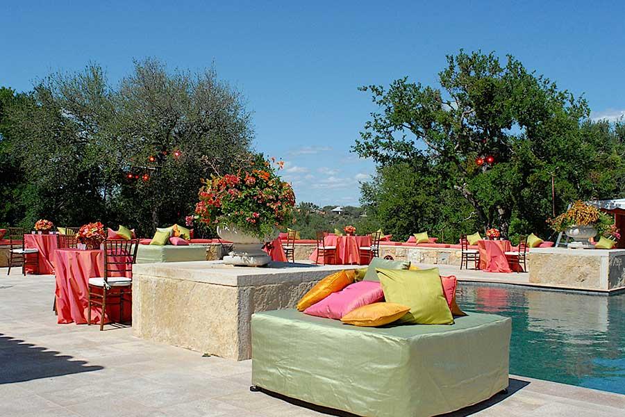 outdoor poolside event