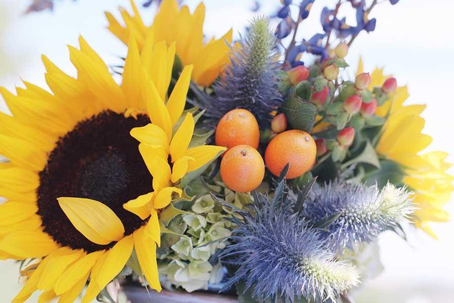 sunflower floral arrangements