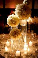 wedding planner white rose centerpieces