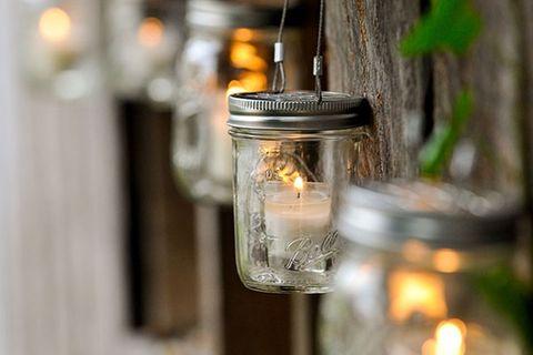 hanging mason jars