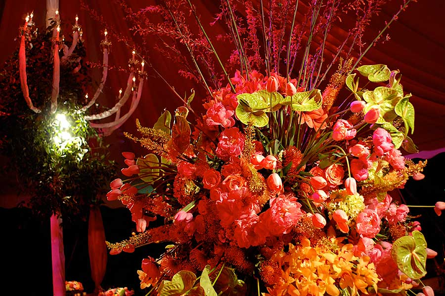 Floral arrangements for corporate event