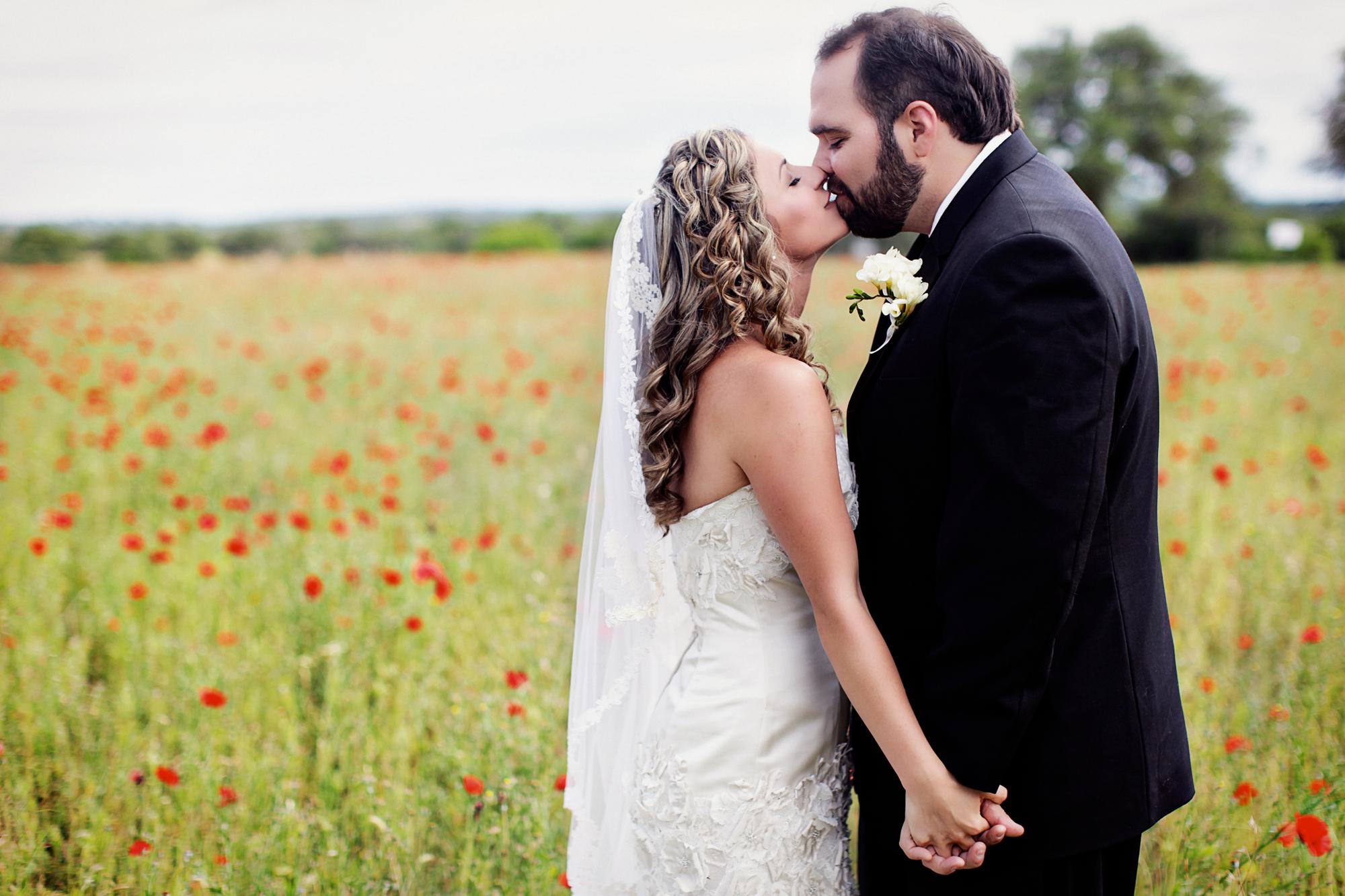 Keri & Brian wedding kiss