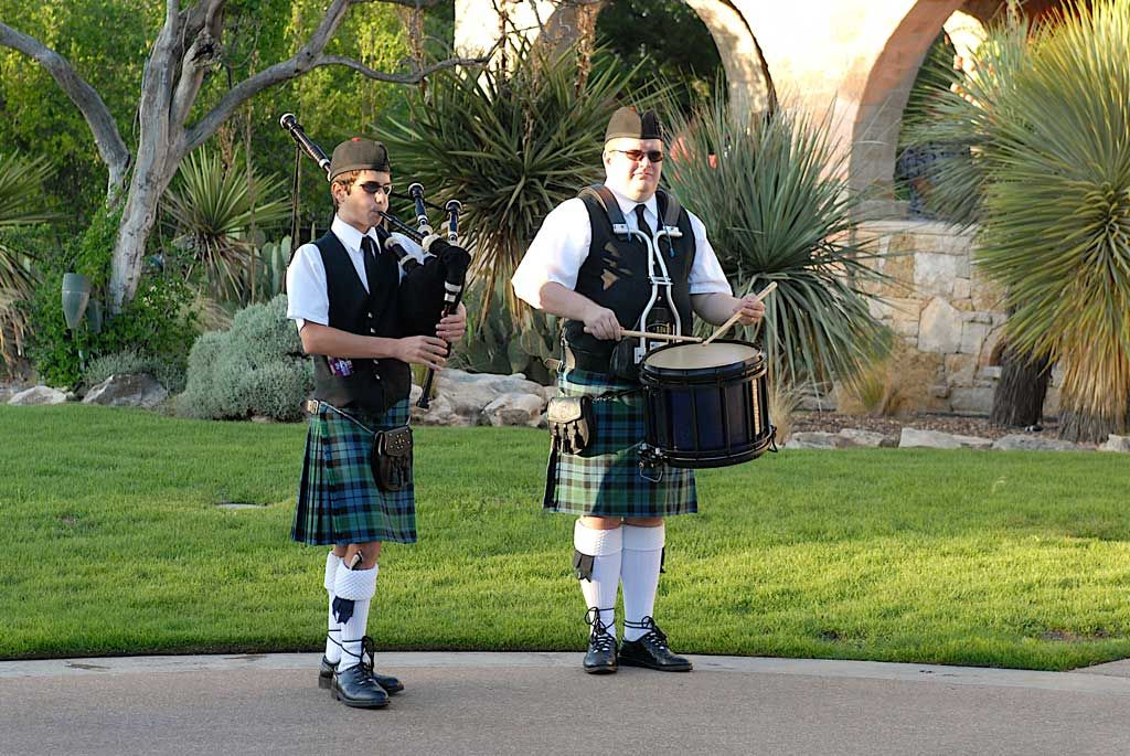 bagpipe and marching drum