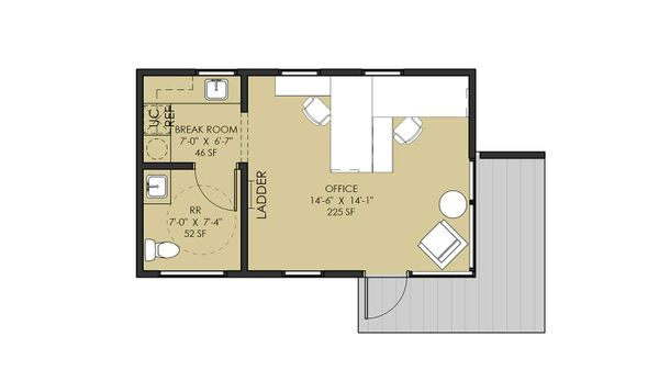 FLOORPLAN OF CABIN A