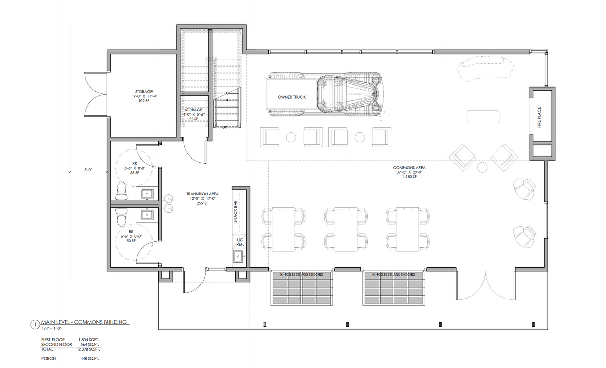 FLOORPLAN OF COMMONS BUILDING