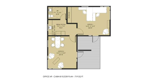 FLOORPLAN FOR CABIN B