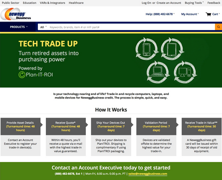 Newegg Helps Businesses Offset IT Purchases with New 'Tech Trade Up' Program